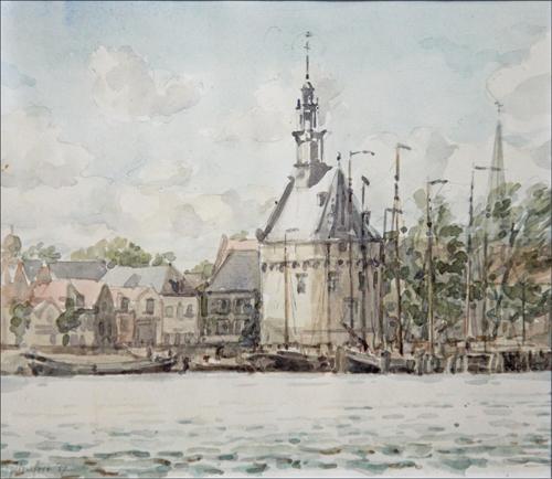 Hoofdtoren Hoorn, aquarel