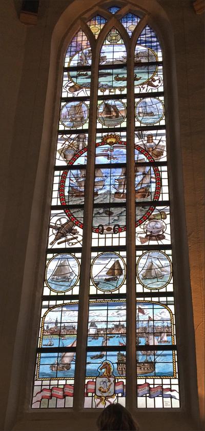 Ontwerp glas-in-loodraam Oosterkerk Hoorn